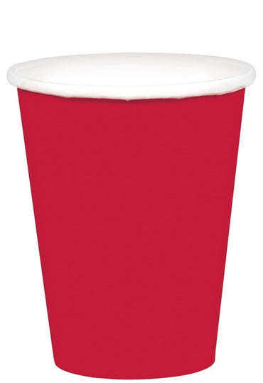 Apple Red Paper Cups 266ml 20pk