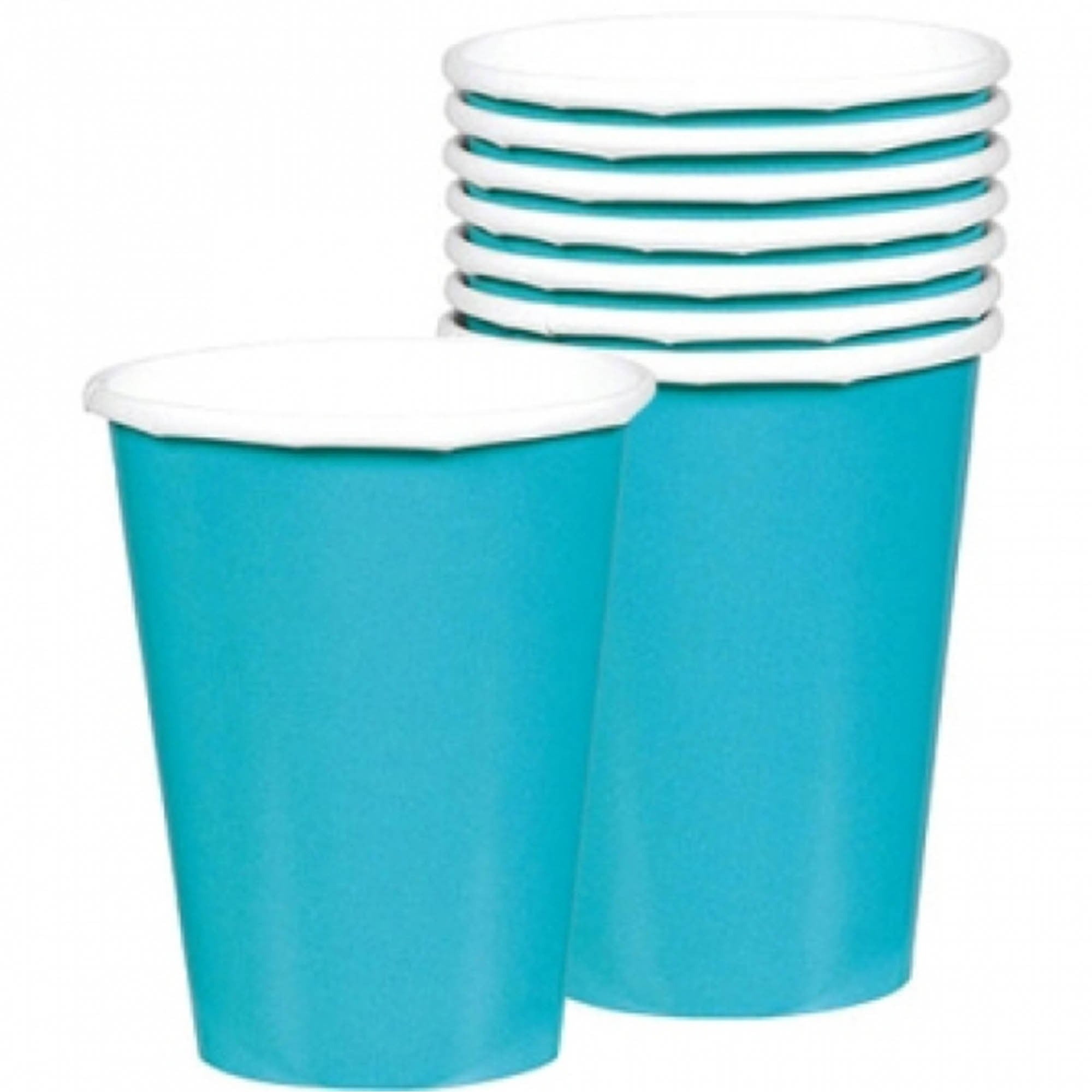 Black Paper Cups 266ml 20pk - Party Savers
