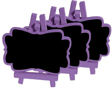 Purple Mini Blackboards 3pk - Party Savers