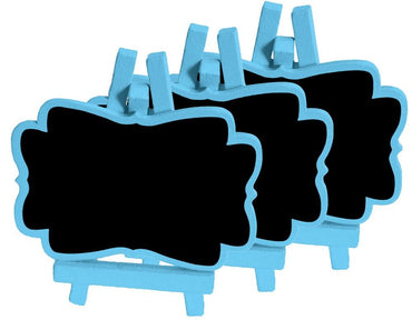 Pastel Blue Mini Blackboards 3pk - Party Savers
