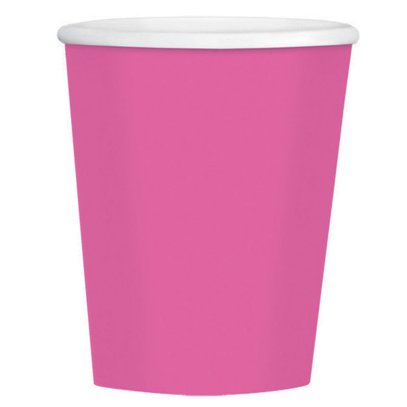 Bright Pink Paper Coffee Cup 354ml 40pk - Party Savers
