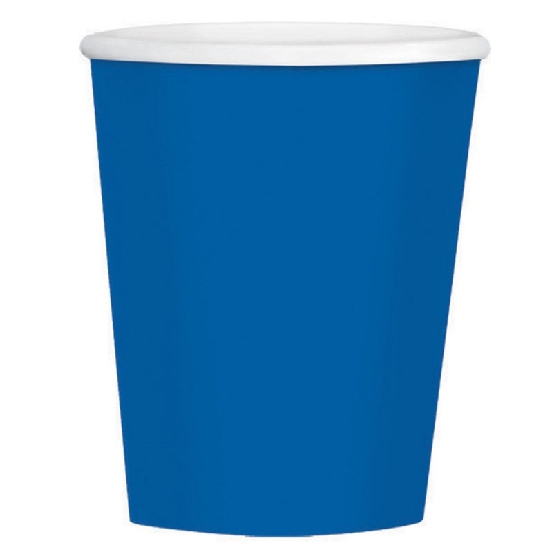 Bright Royal Blue Paper Coffee Cup 354ml 40pk - Party Savers