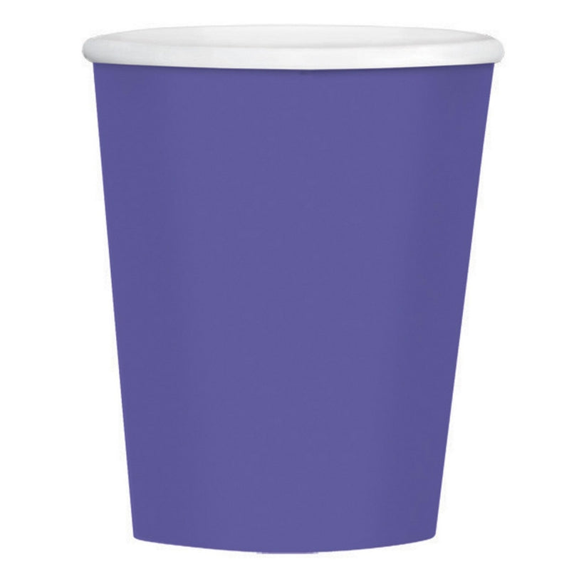 New Purple Paper Coffee Cup 354ml 40pk - Party Savers