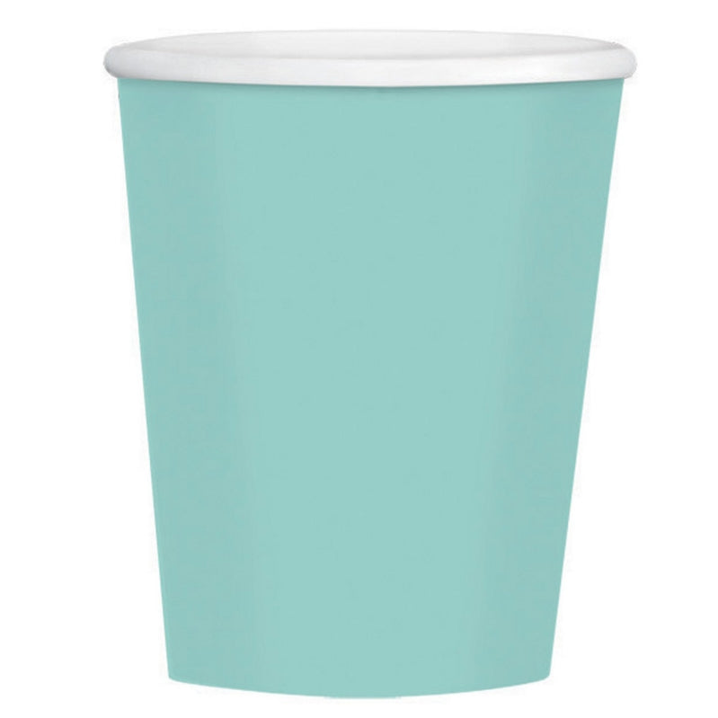 Robin Egg Blue Paper Coffee Cup 354ml 40pk - Party Savers