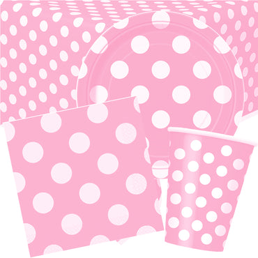 Pastel Pink Dots Party Pack for 8
