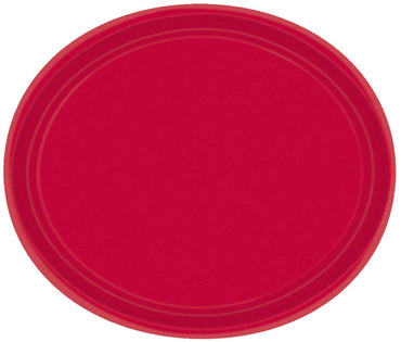 Apple Red Oval Paper Plates 30cm 20pk