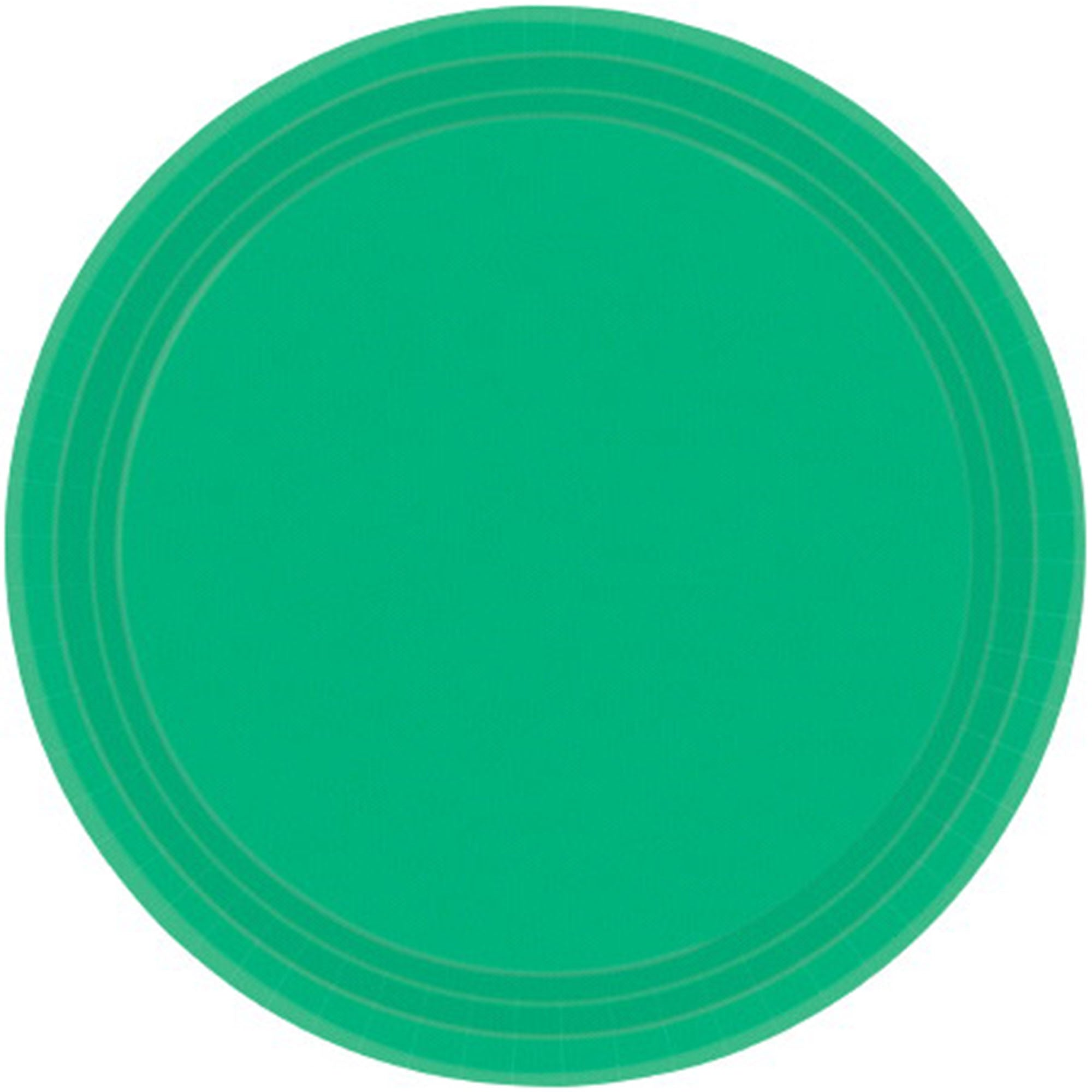 Festive Green Round Paper Plates 26cm 20pk - Party Savers