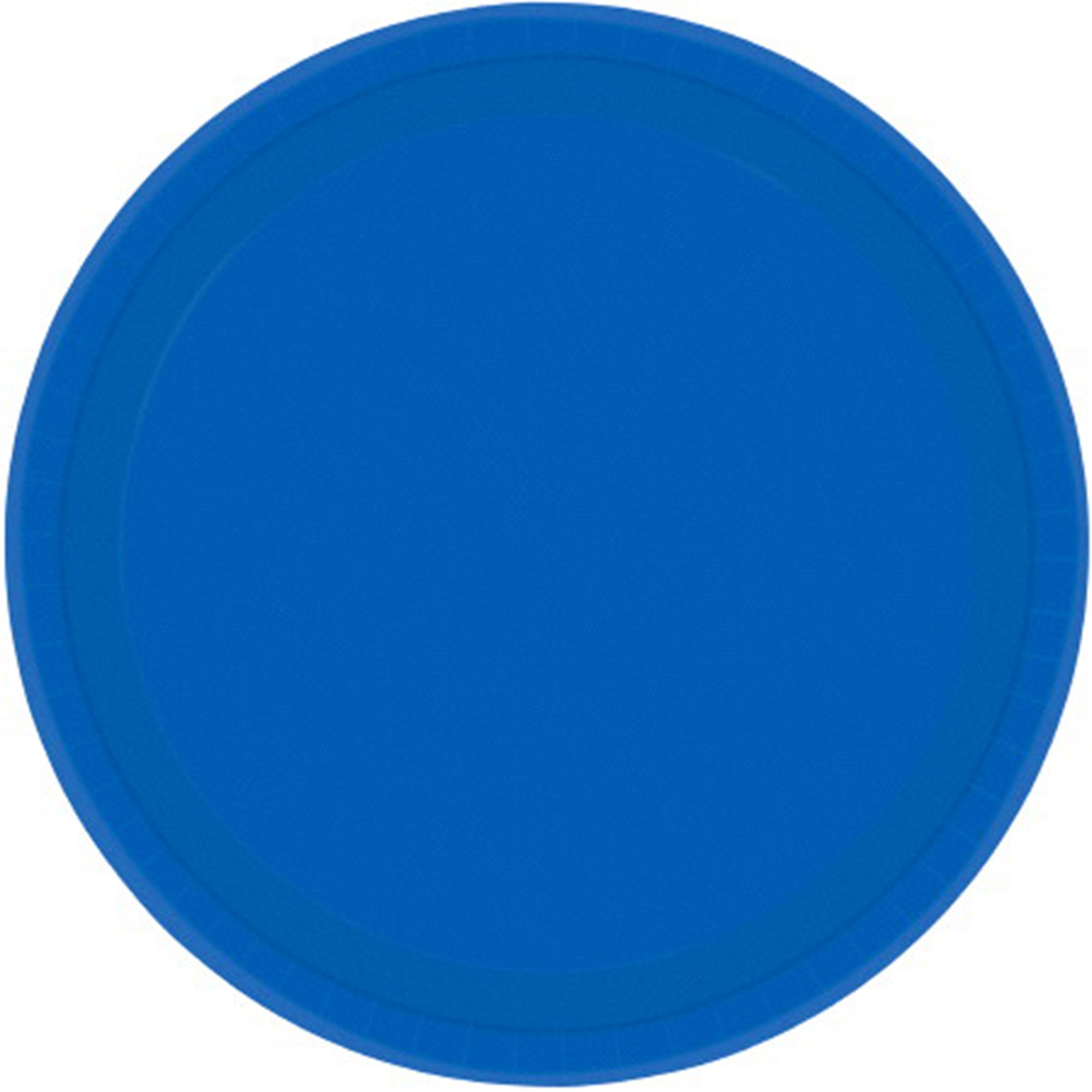 Bright Royal Blue Round Paper Plates 26cm 20pk - Party Savers
