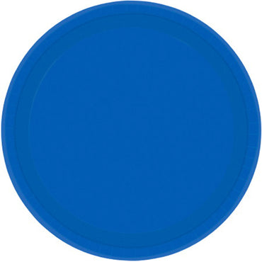 Bright Royal Blue Round Paper Plates 26cm 20pk