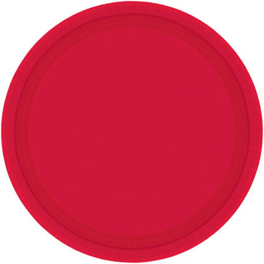 Apple Red Round Paper Plates 26cm 20pk