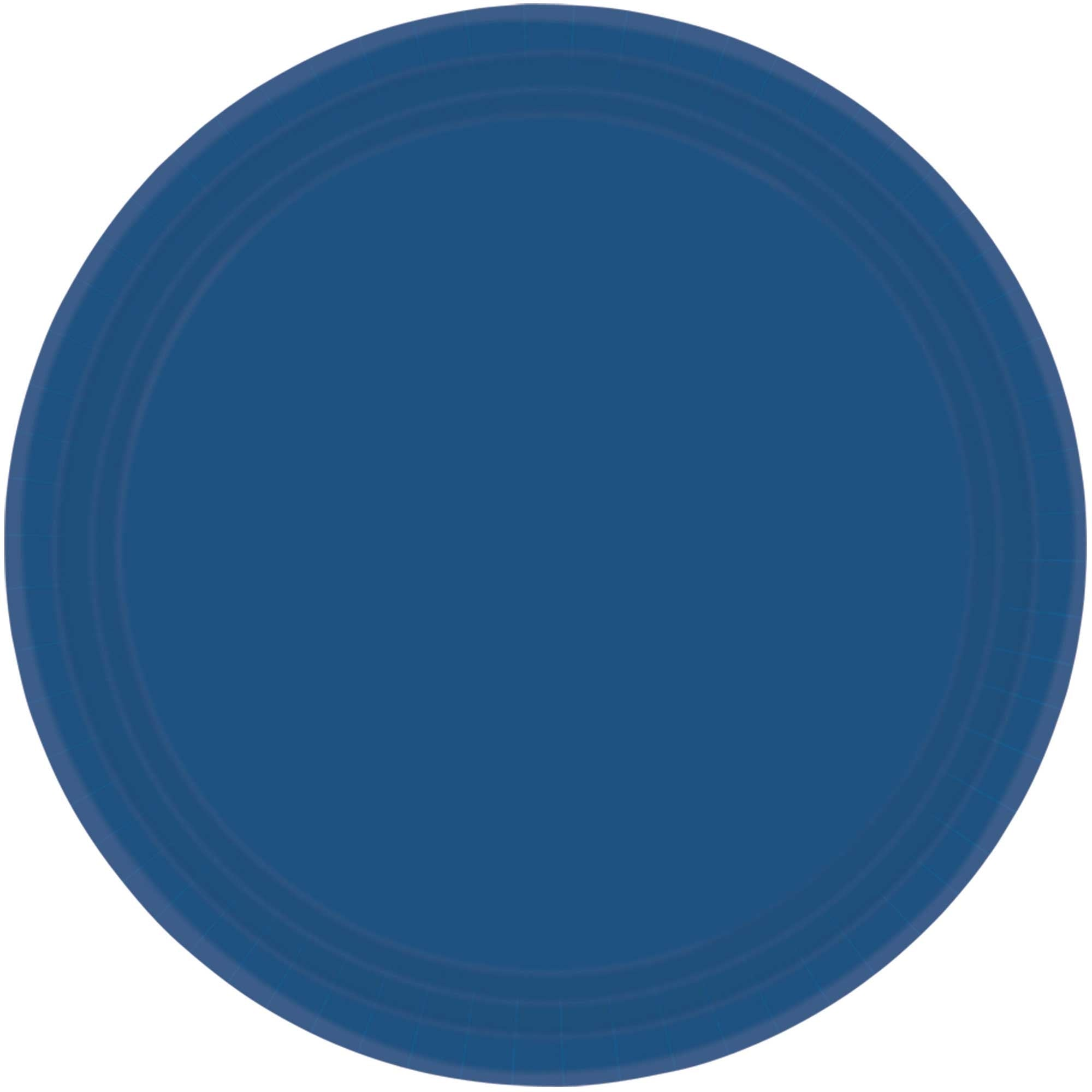 Navy Flag Blue Round Paper Plates 26cm 20pk - Party Savers