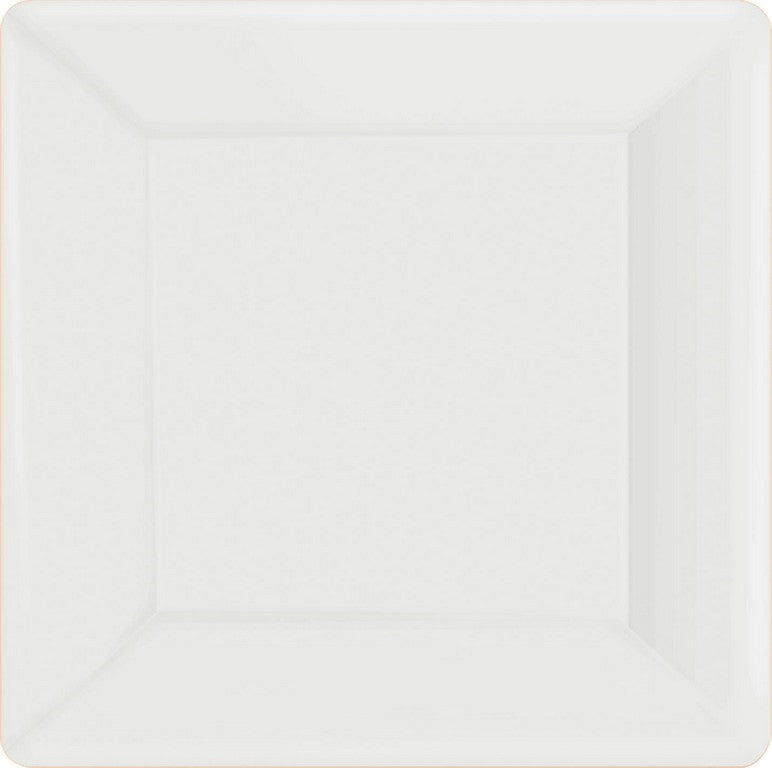 Frosty White Square Paper Plates 26cm 20pk - Party Savers