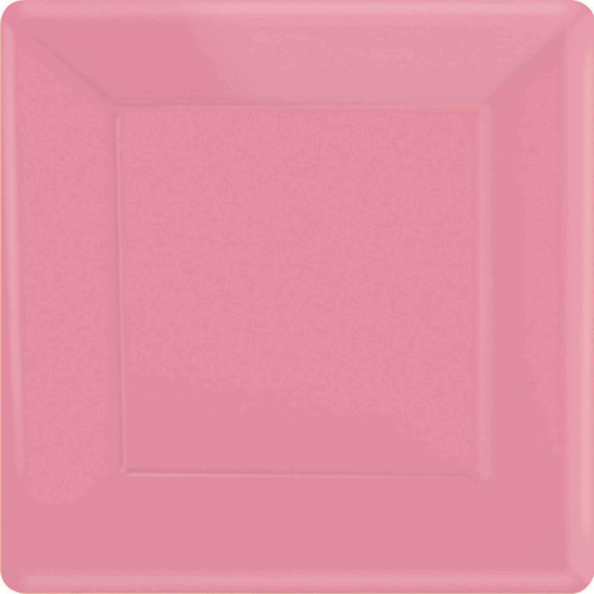 Bright Pink Square Paper Plates 26cm 20pk - Party Savers