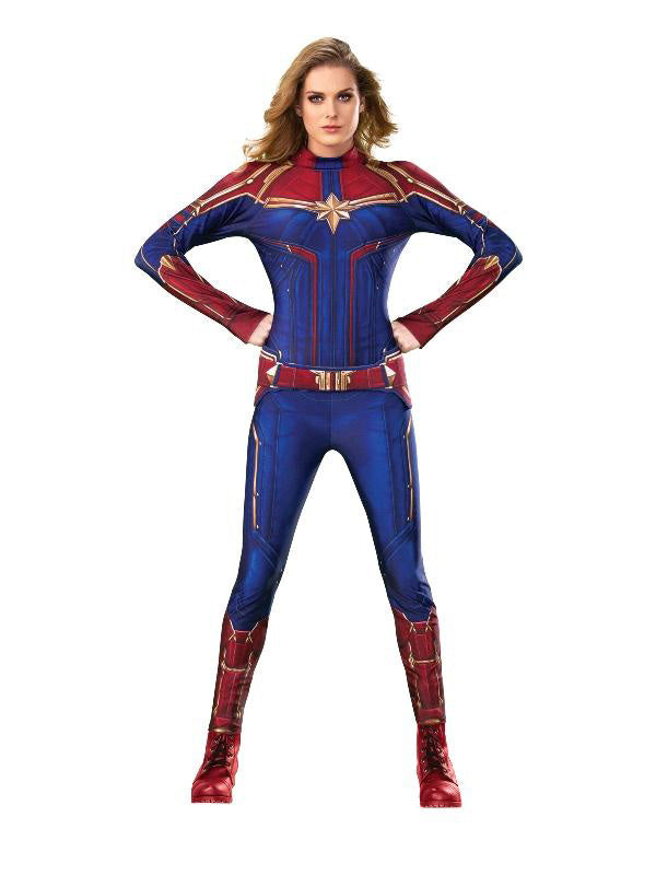 Women's Costume - Captain Marvel Deluxe - Party Savers