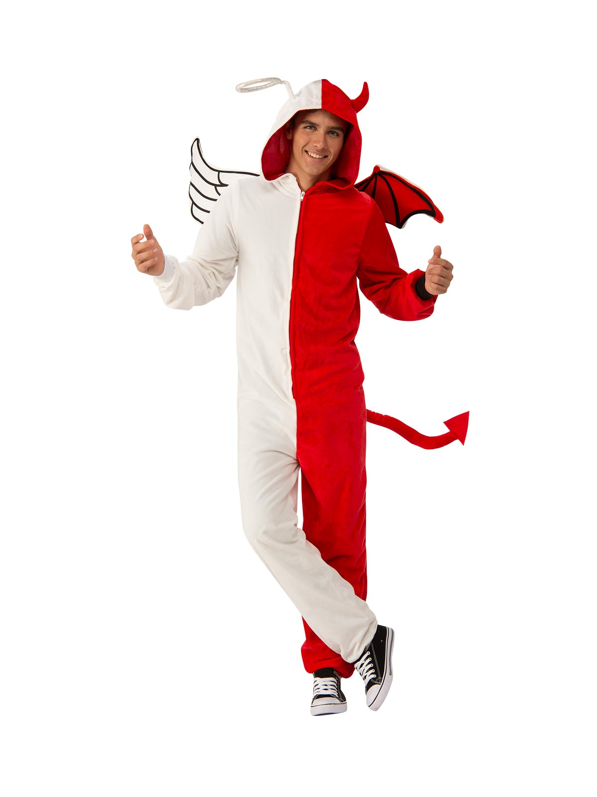 Men's Costume - Angel Or Demon Furry Onesie