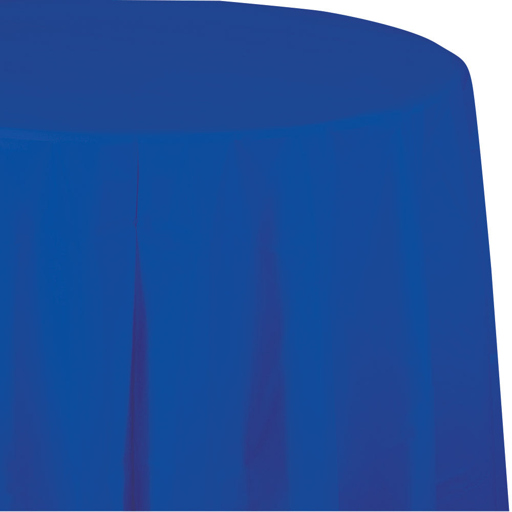 Royal Blue Plastic Round Tablecover 213cm - Party Savers