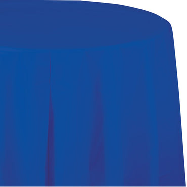 Royal Blue Plastic Round Tablecover 213cm