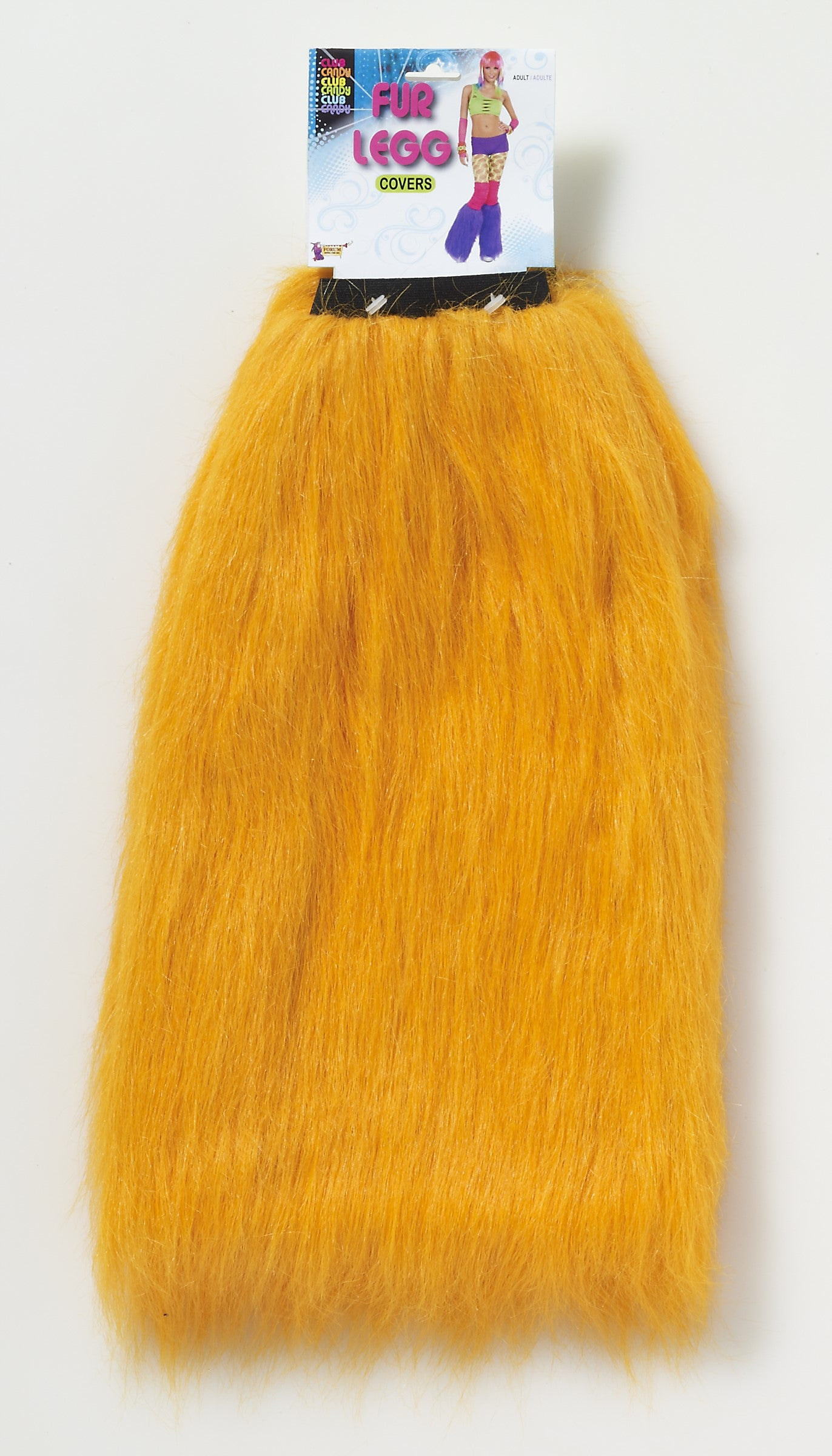 Club Candy Fur Leg Covers - Orange