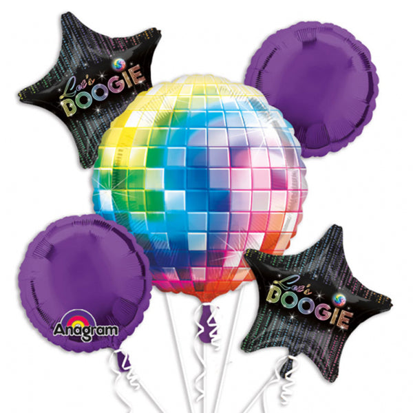 70s Disco Fever Balloon Bouquet 5pk