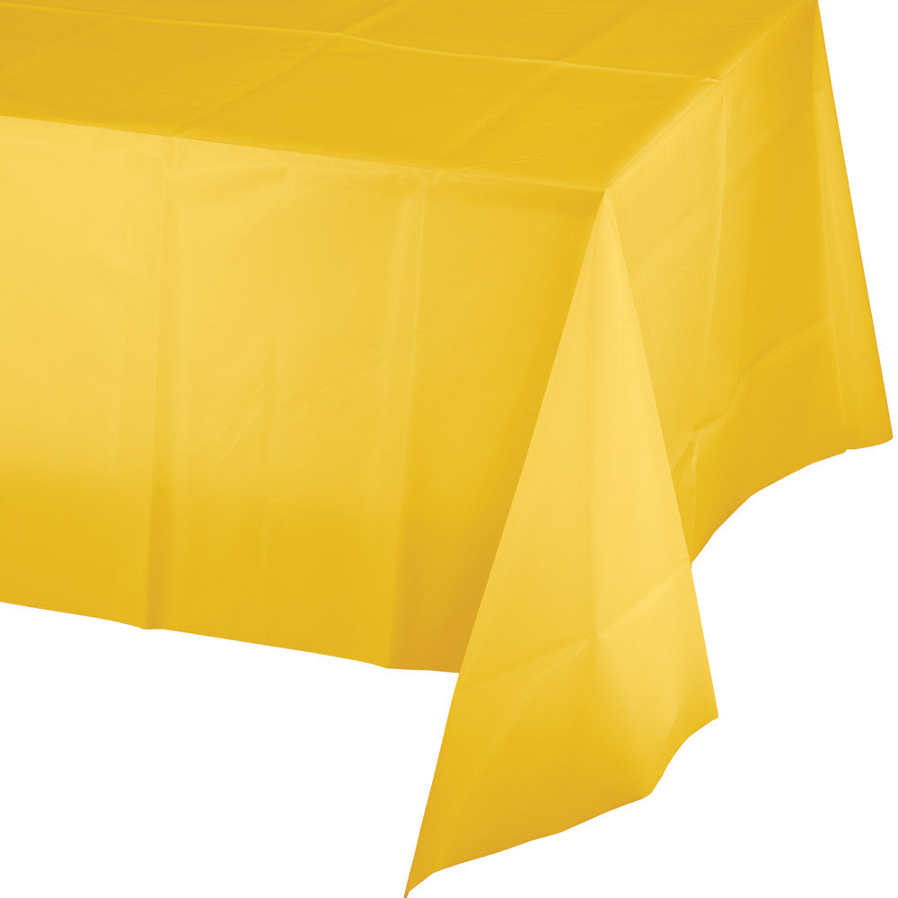 Red Plastic Rectangular Tablecover 137cm x 274cm