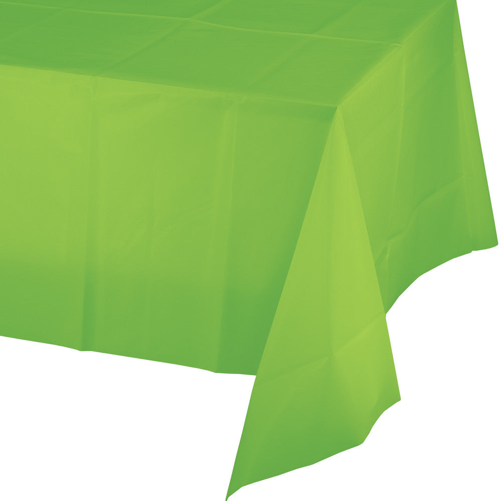 Lime Green Plastic Rectangular Tablecover 137cm x 274cm - Party Savers