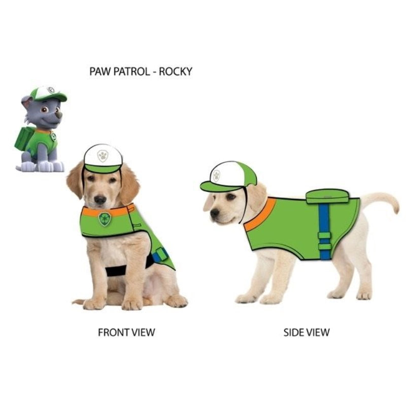 Paw Patrol Dog Costume Rocky-Green  Large