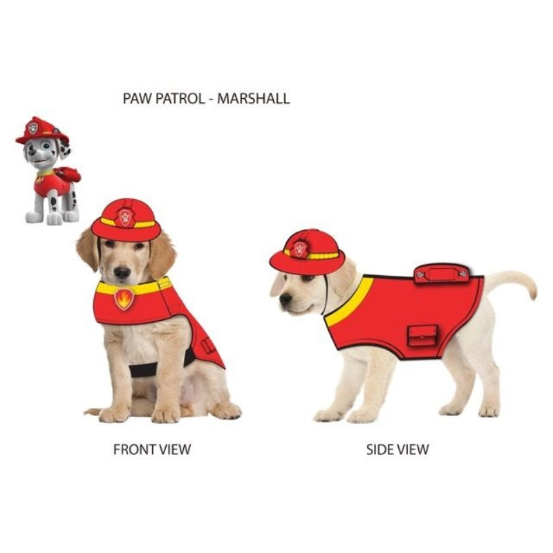 Paw Patrol Dog Costume Marshall-Red Large - Party Savers