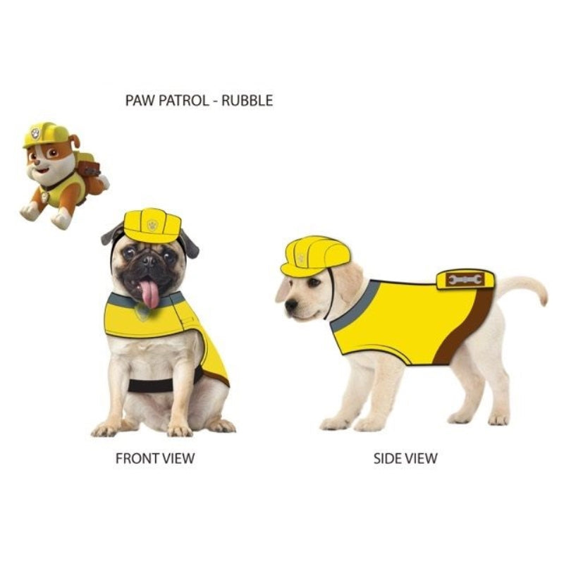 Paw Patrol Dog Costume Rubble-Yellow Large - Party Savers