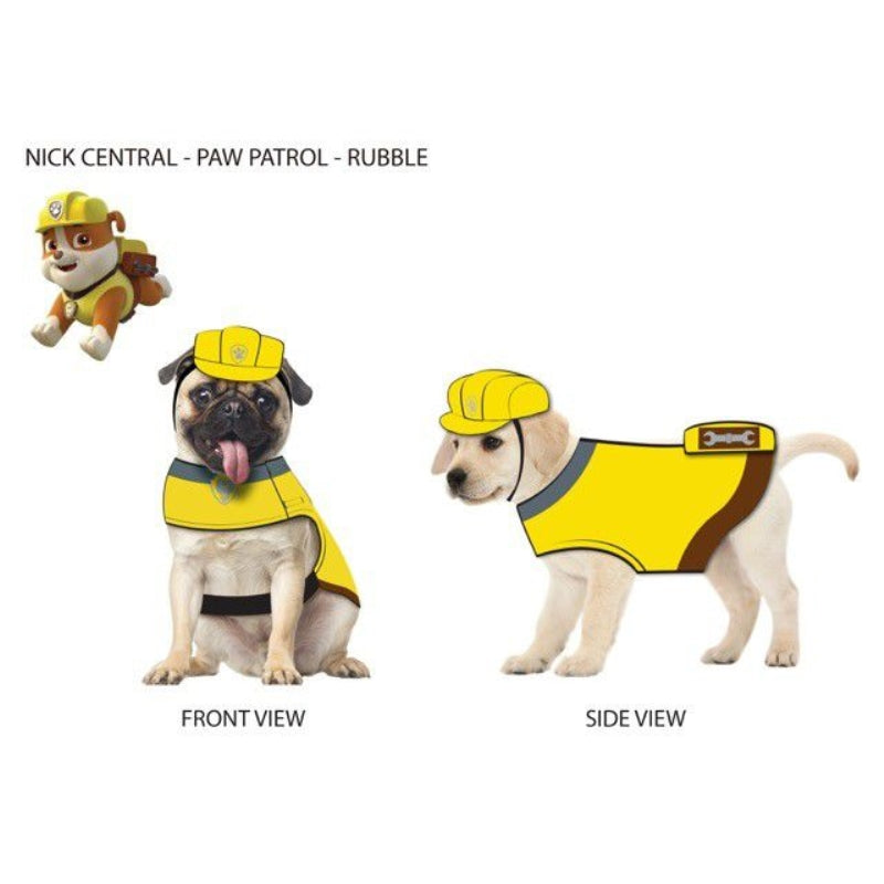 Paw Patrol Dog Hat Rubble-Yellow Small - Party Savers