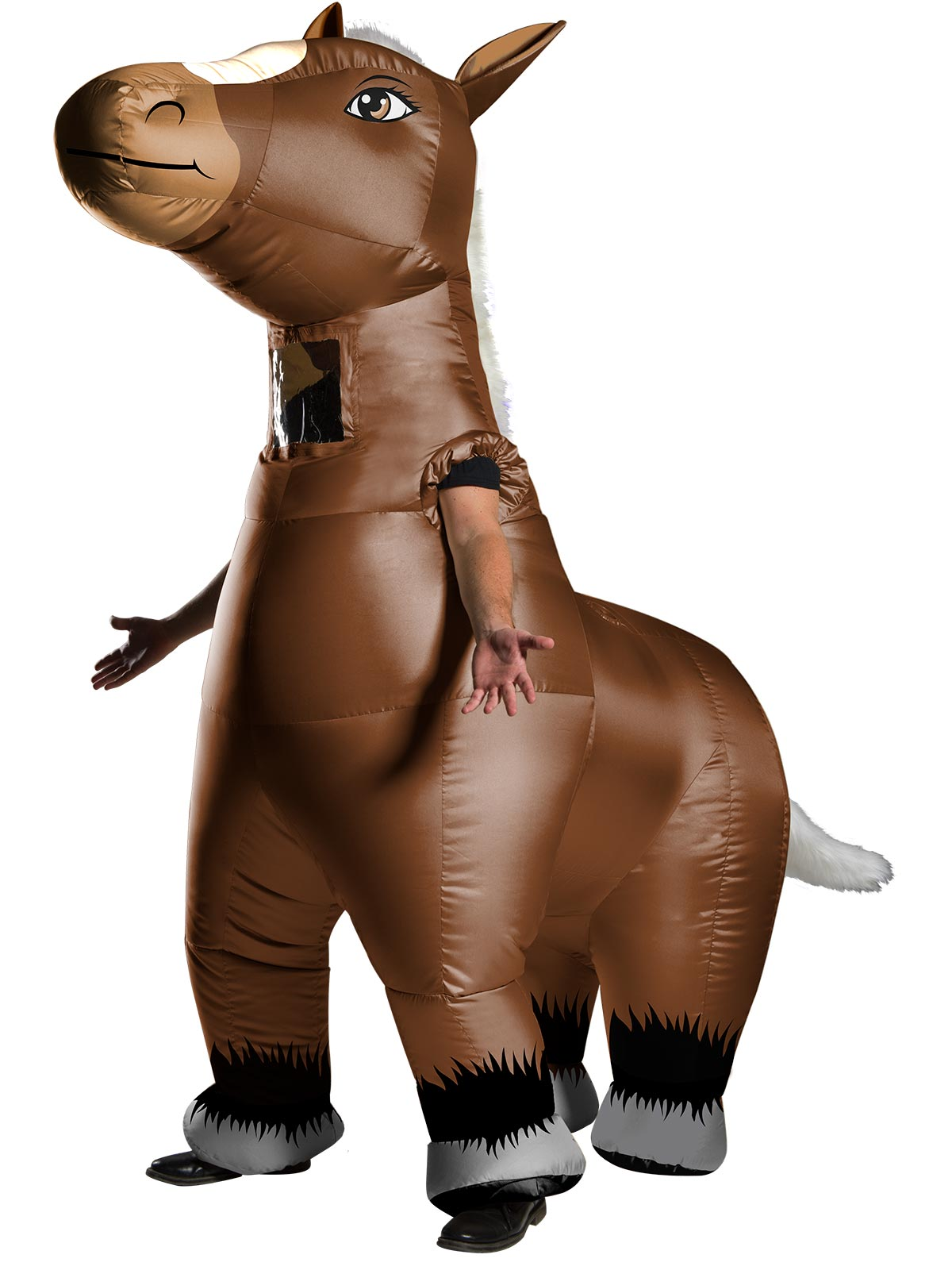 Men's Costume - Mr Horsey Inflatable Horse - Party Savers