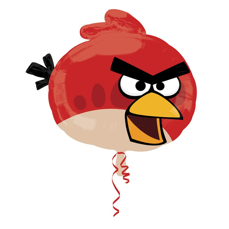 Angry Birds Red Soaring Foil Balloon - Party Savers