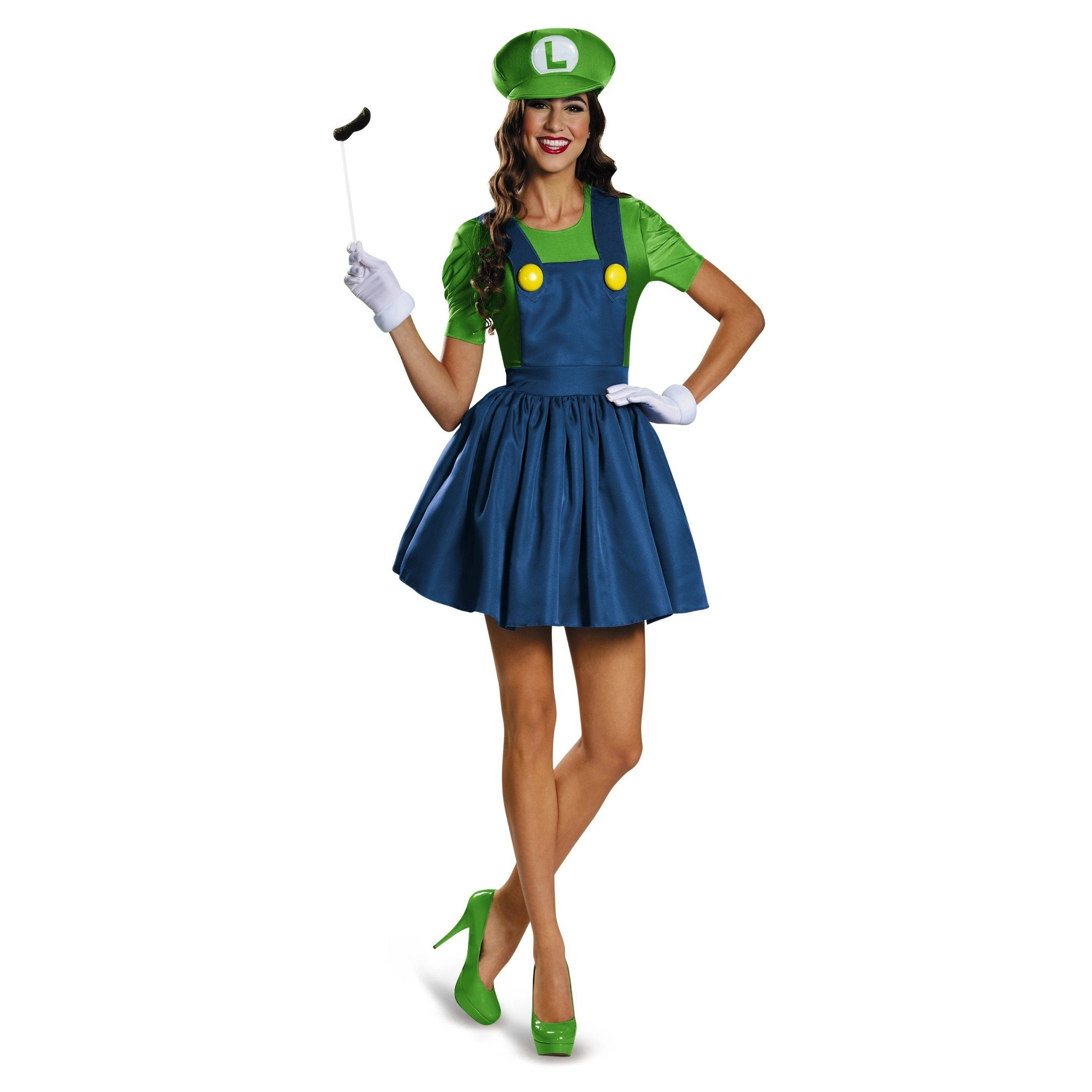 Teen Costume - Luigi Skirt Version Costume - Party Savers