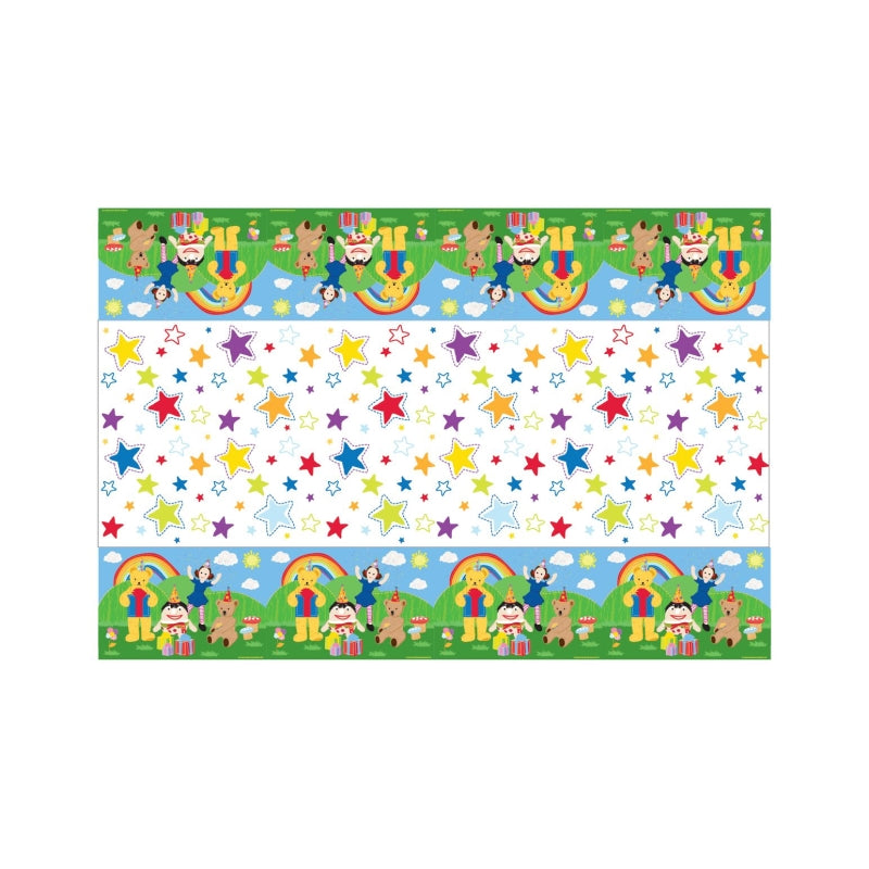Play School Plastic Tablecover 1.3m x 2.4m - Party Savers