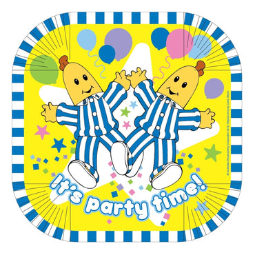 Bananas in Pyjamas Square Plates 25.4cm 8pk