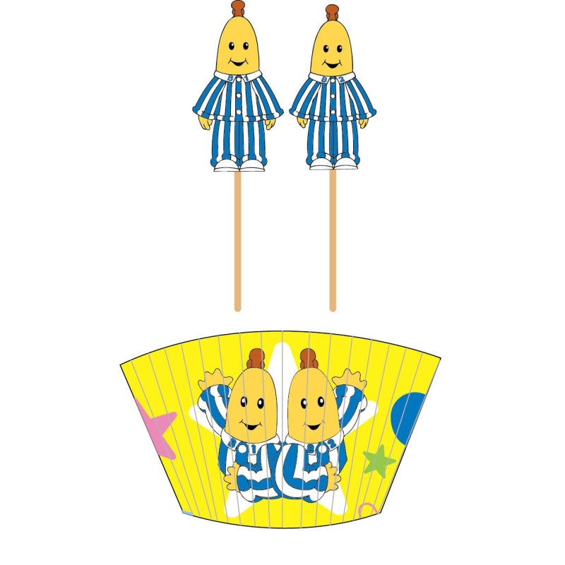 Bananas in Pyjamas Cupcake Cases & Picks 48pk