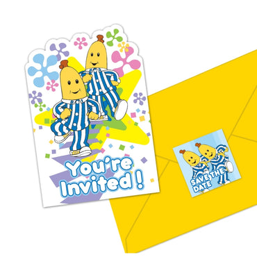 Bananas in Pyjamas Postcard Invitations 8pk