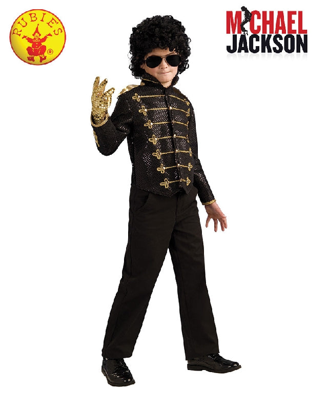 Boys Costume - Michael Jackson Child Deluxe Black Military Jacket