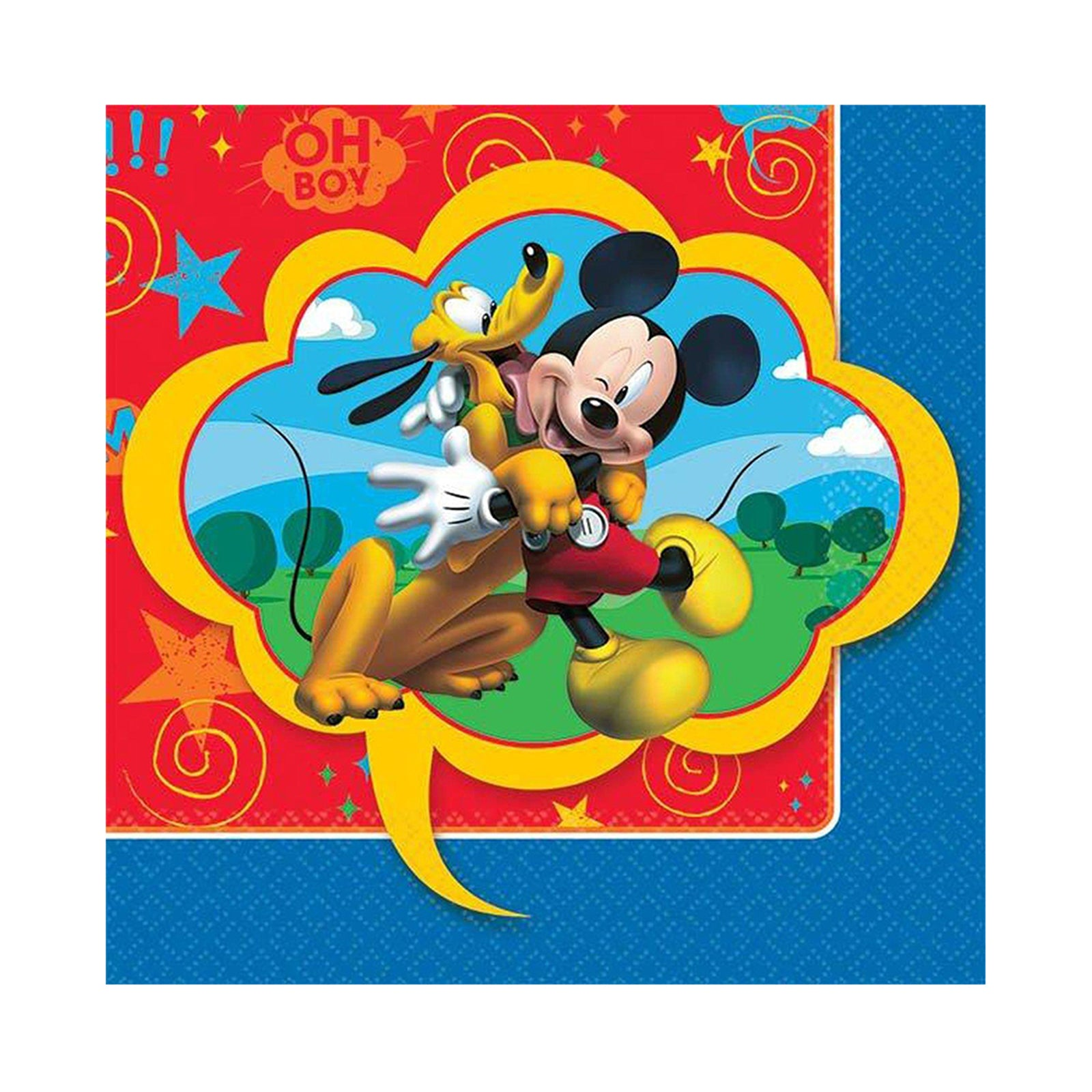 Mickey Mouse Beverage Napkins 16pk - Party Savers
