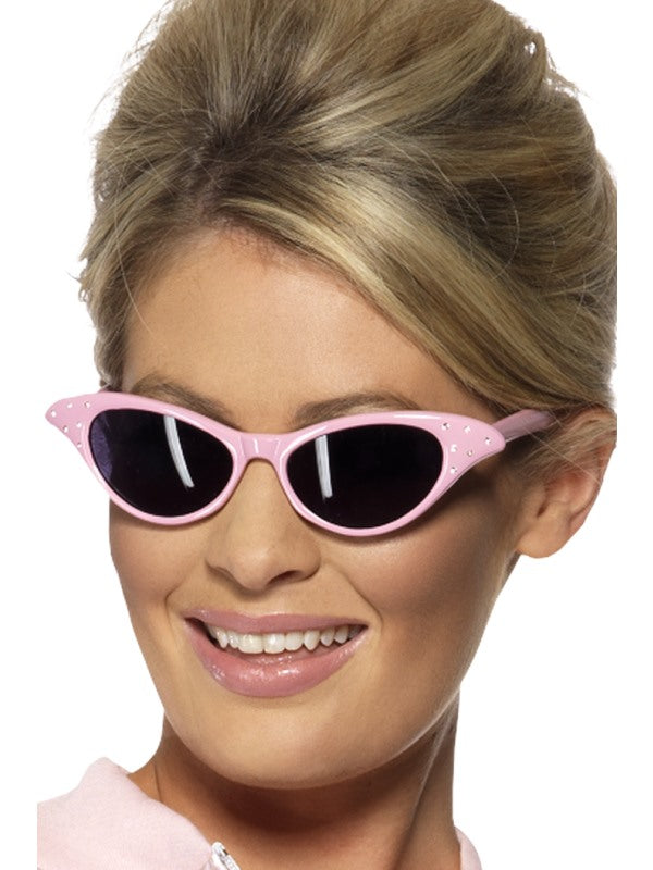 Pink Flyaway Style Rock & Roll Sunglasses - Party Savers