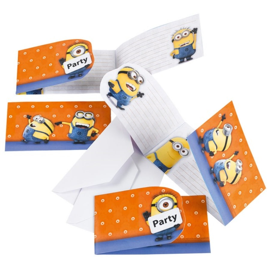 Minions Invitations 6pk - Party Savers