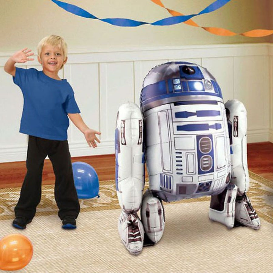 Star Wars R2D2 AirWalkers Foil Balloon 86cm x 96cm - Party Savers