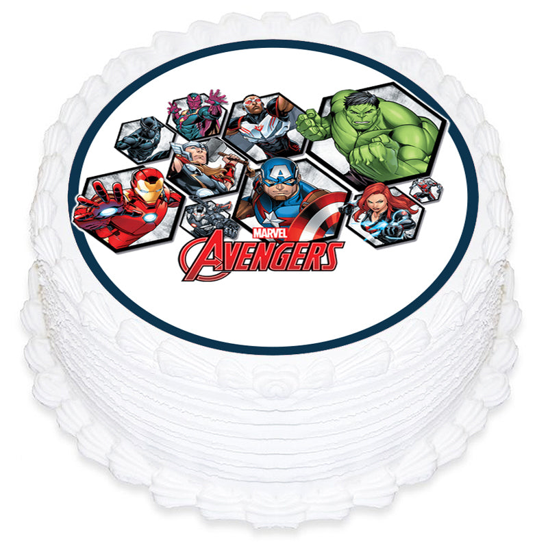Avengers Round Edible Icing Image 19cm - Party Savers