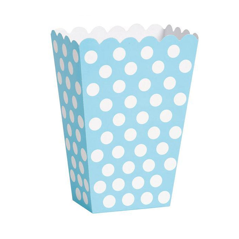 Pastel Blue Treat Boxes 8pk