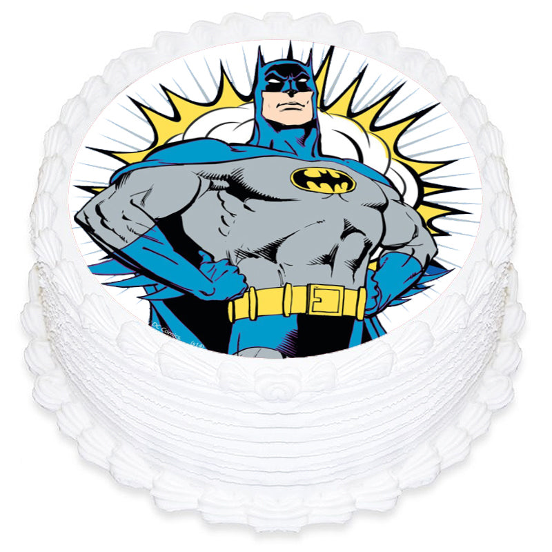 Batman Round Edible Icing Image 19cm - Party Savers