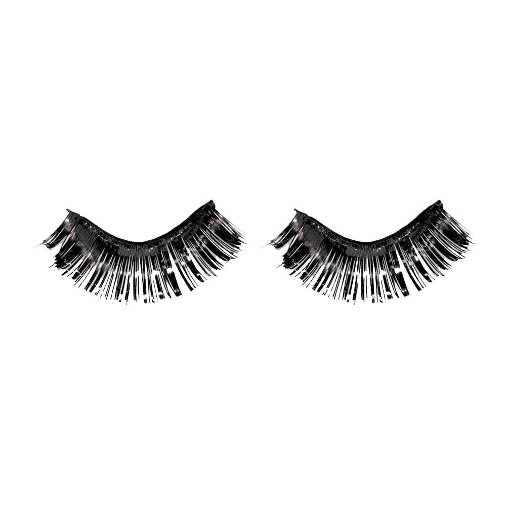 Black Tinsel Eyelashes - Party Savers
