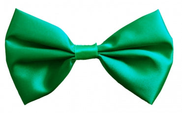 Green Satin Bow Tie
