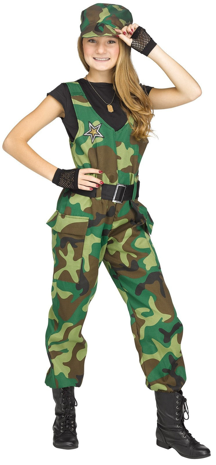 Girls Costume - Camo Cutie - Party Savers