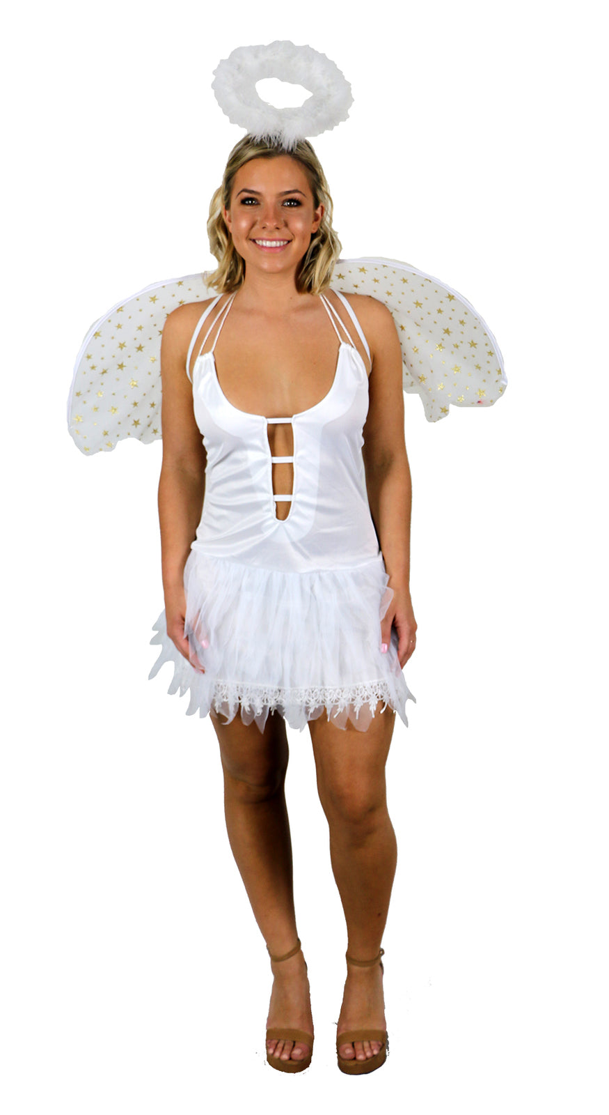 Womens Costume - Heavens Snow Angel - Party Savers