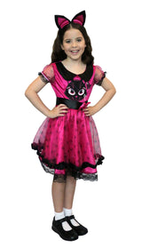 Girls Costume - Lil Miss Kitty - Party Savers