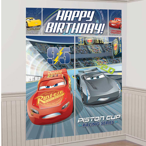 Cars 3 Scene Setter Wall Decoration Kit 5pk
